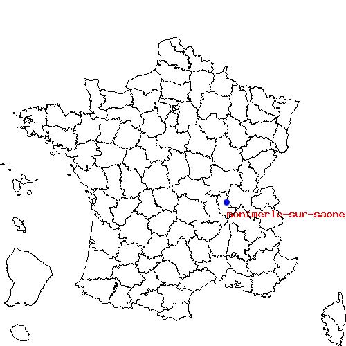 Itin raire de montmerle sur saone belleville 69 for Code postal saone