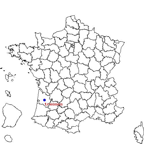 Carte géographique de la ville de Tresses