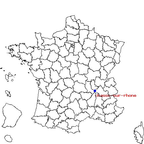 Chasse-sur-Rhone France  city photos : Chasse sur Rhône et Givors sur la carte de France