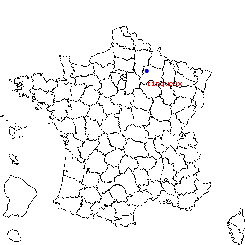 tinqueux sur la carte de France