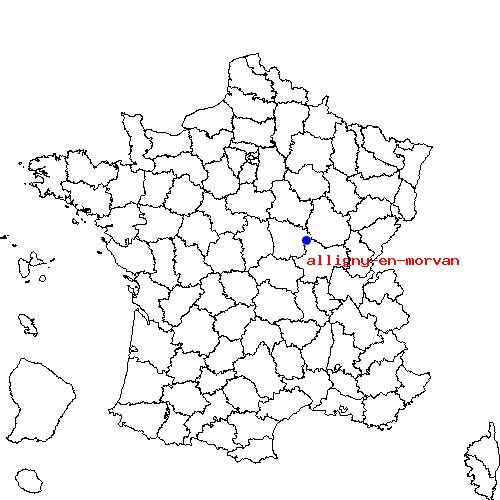 Itinéraire d'alligny en morvan à nevers