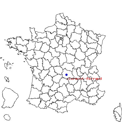 Infos sur : ou se trouve clermont ferrand sur la carte de france - Arts et Voyages