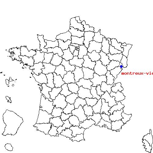 Itinéraire de valdoie à montreux vieux