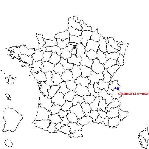 Carte De France Chamonix Mont Blanc   popkensburg
