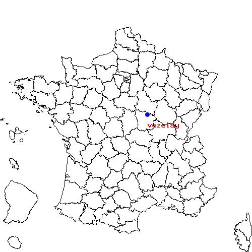 Itinéraire d'AUXERRE à vezelay